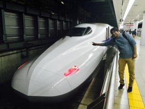 Infographic timeline of Japanese Bullet train